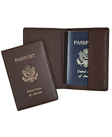 Royce New York Foil Stamped RFID Blocking Passport Case