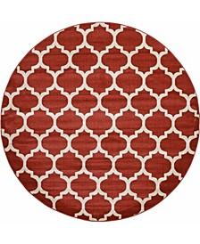 Arbor Arb1 Red 8' x 8' Round Area Rug