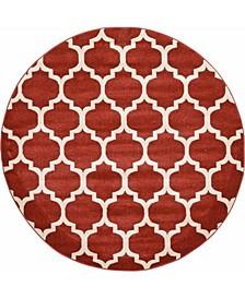 Arbor Arb1 Red 6' x 6' Round Area Rug