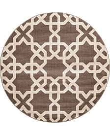 Arbor Arb5 Light Brown 6' x 6' Round Area Rug
