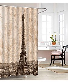 Elegant Comfort Luxury Premium Quality 3D Graphic Printed Bathroom Shower Curtain - 100% Vinyl Waterproof