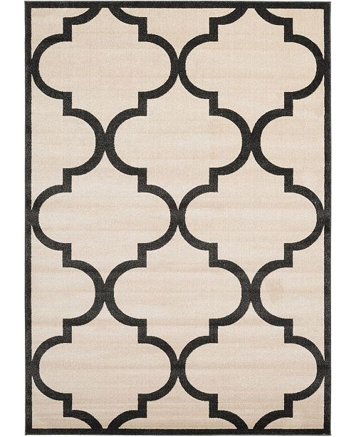Bridgeport Home Arbor Arb3 Beige/Black 7' x 10' Area Rug