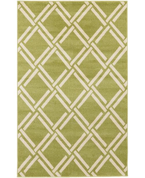 Bridgeport Home Arbor Arb4 Green 5' x 8' Area Rug