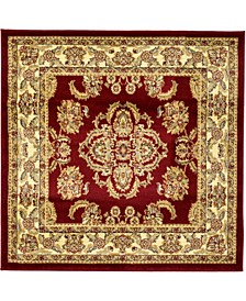 Passage Psg5 Red 4' x 4' Square Area Rug