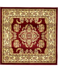 Bridgeport Home Passage Psg5 Red 4' x 4' Square Area Rug