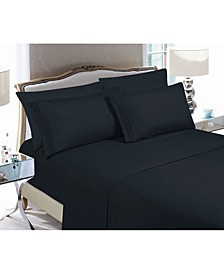 6-Piece Luxury Soft Solid Bed Sheet Set King