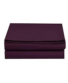 Silky Soft Single Flat Sheet Twin Purple