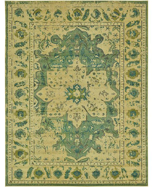 Bridgeport Home Sana San6 Green 9' x 12' Area Rug
