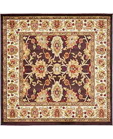 Passage Psg3 Brown 4' x 4' Square Area Rug