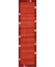 "Bridgeport Home Lyon Lyo1 Rust Red 2' 7"" x 10' Runner Area Rug"