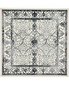 Aldrose Ald6 Gray 10' x 10' Square Area Rug