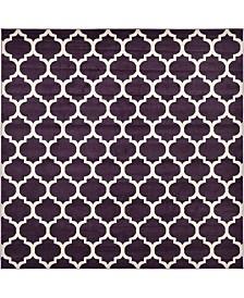 Bridgeport Home Arbor Arb1 Purple 10' x 10' Square Area Rug
