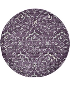 Felipe Fel1 Purple 6' x 6' Round Area Rug