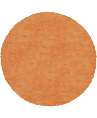 Jiya Jiy1 Orange 8' x 8' Round Area Rug