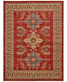 Bridgeport Home Harik Har5 Red 9' x 12' Area Rug