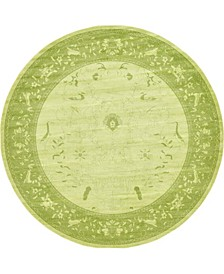 "Aldrose Ald4 Light Green 12' 2"" x 12' 2"" Round Area Rug"