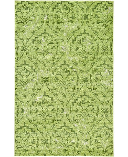 Bridgeport Home Felipe Fel1 Green 5' x 8' Area Rug