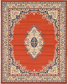 Bridgeport Home Birsu Bir1 Terracotta 8' x 10' Area Rug