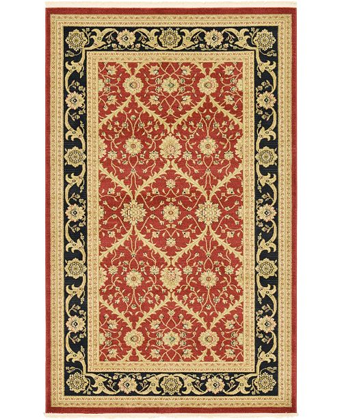 Bridgeport Home Orwyn Orw4 Red 5' x 8' Area Rug