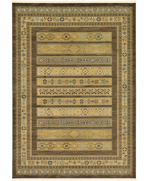 Bridgeport Home Ojas Oja4 Brown 7' x 10' Area Rug