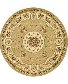 Belvoir Blv4 Tan 6' x 6' Round Area Rug