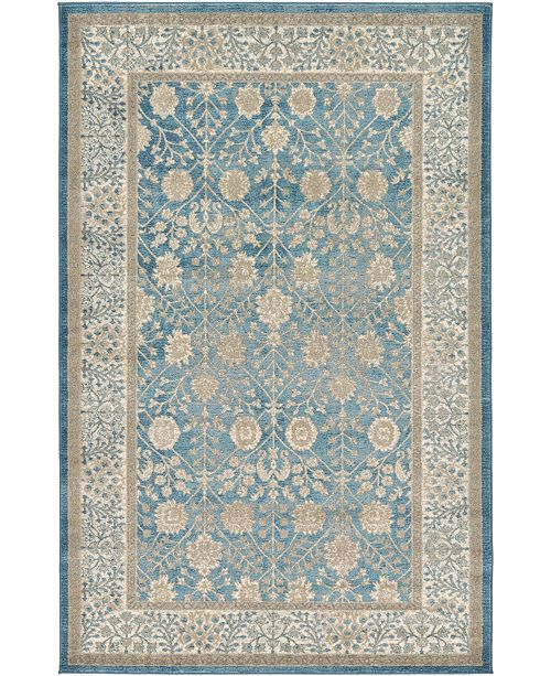 Bridgeport Home Bellmere Bel3 Light Blue 5' x 8' Area Rug