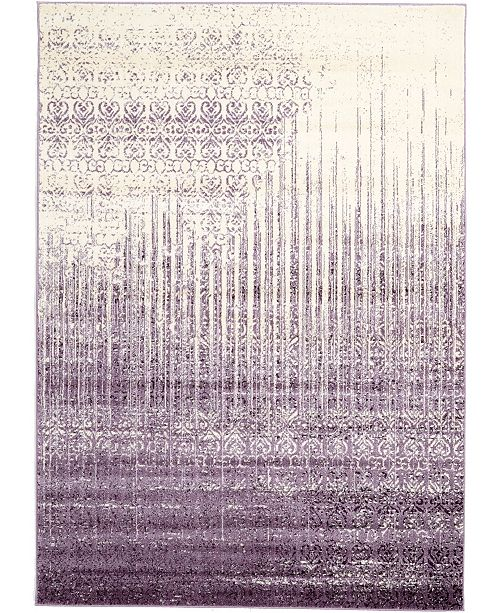 Bridgeport Home Lyon Lyo2 Purple 7' x 10' Area Rug