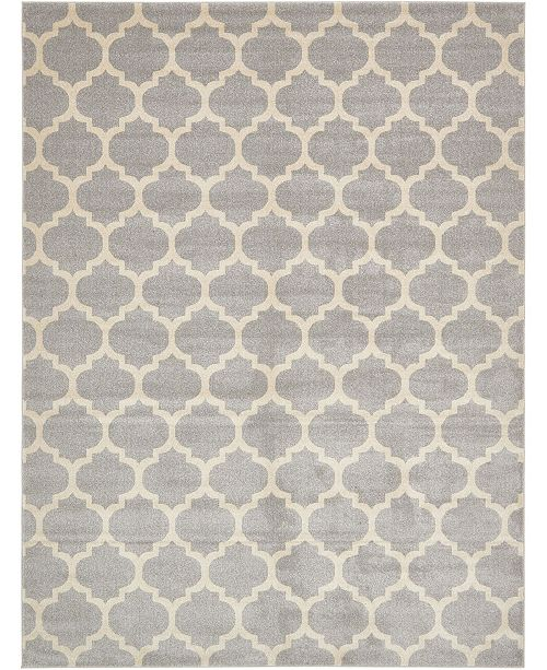 Bridgeport Home Arbor Arb1 Light Gray 9' x 12' Area Rug