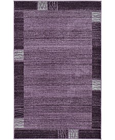 "CLOSEOUT!  Lyon Lyo1 Purple 3' 3"" x 5' 3"" Area Rug"