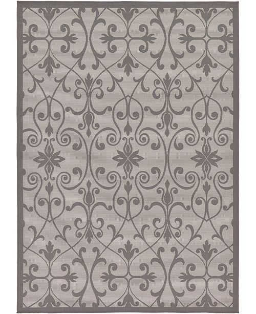 Bridgeport Home Pashio Pas5 Gray 7' x 10' Area Rug