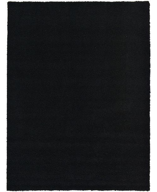 Bridgeport Home Exact Shag Exs1 Jet Black 8' x 11' Area Rug