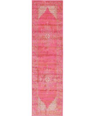 "Aroa Aro8 Pink 2' 7"" x 10' Runner Area Rug"
