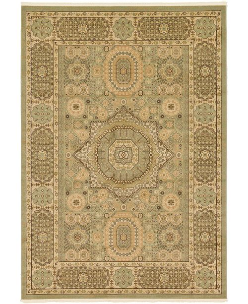Bridgeport Home Wilder Wld5 Light Green 7' x 10' Area Rug