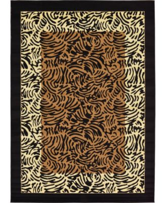 Maasai Mss7 Light Brown 7' x 10' Area Rug