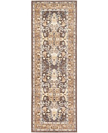 "Bridgeport Home Wisdom Wis2 Brown 2' 2"" x 6' Runner Area Rug"