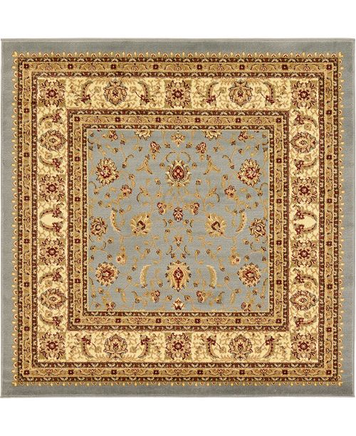 Bridgeport Home Passage Psg4 Light Blue 6' x 6' Square Area Rug
