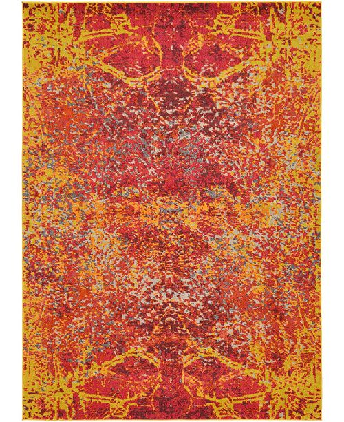 Bridgeport Home Newwolf New3 Red 7' x 10' Area Rug