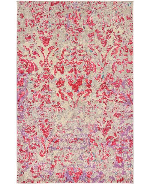 Bridgeport Home CLOSEOUT! Newwolf New3 Beige 5' x 8' Area Rug