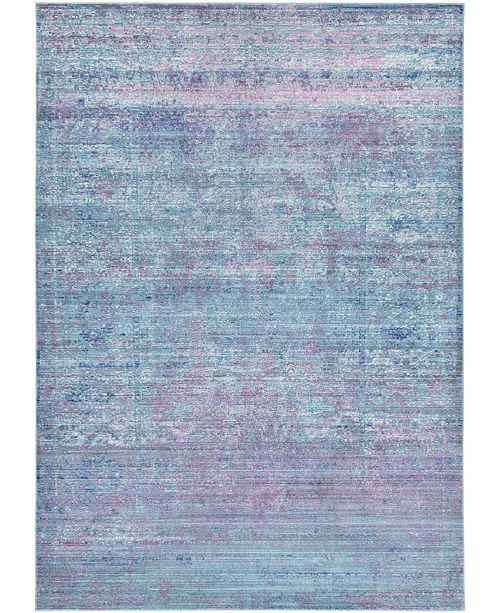 Bridgeport Home Malin Mal8 Light Blue 6' x 9' Area Rug