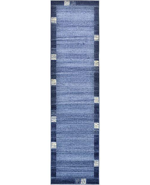 "Bridgeport Home Lyon Lyo1 Navy Blue 2' 7"" x 10' Runner Area Rug"