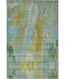 "Bridgeport Home Adah Ada2 Turquoise 10' 6"" x 16' 5"" Area Rug"