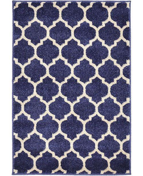 """Bridgeport Home Arbor Arb1 Dark Blue 2' 2"""" x 3' Area Rug"""