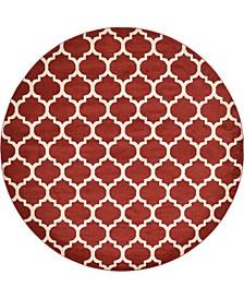 Arbor Arb1 Red 10' x 10' Round Area Rug