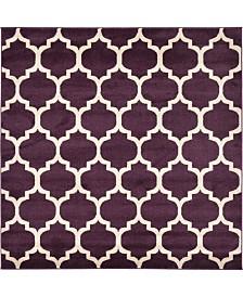 Bridgeport Home Arbor Arb1 Purple 6' x 6' Square Area Rug