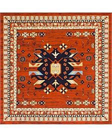 Charvi Chr1 Terracotta 8' x 8' Square Area Rug