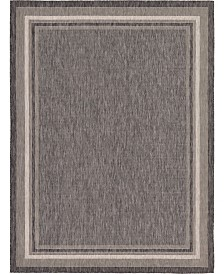 Bridgeport Home Pashio Pas5 Black 9' x 12' Area Rug