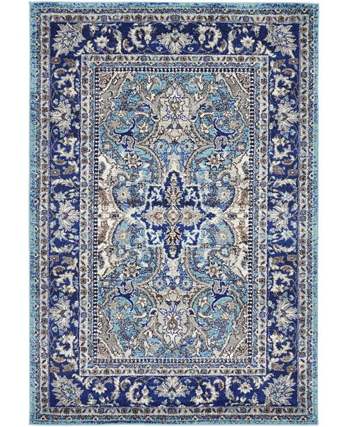 Bridgeport Home Wisdom Wis2 Blue 4' x 6' Area Rug