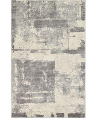 Wisdom Wis4 Gray 5' x 8' Area Rug