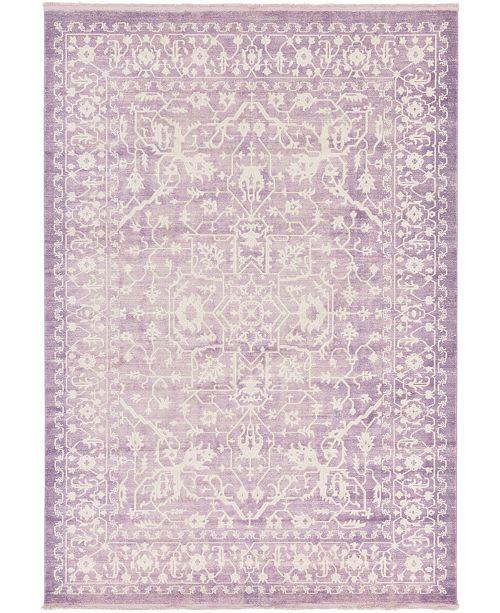 "Bridgeport Home Norston Nor1 Purple 8' x 11' 4"" Area Rug"