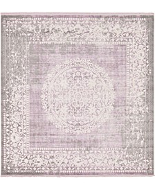 Norston Nor4 Purple 8' x 8' Square Area Rug